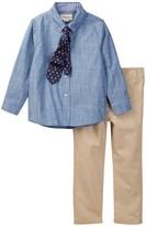 Beetle & Thread Chambray Shirt, Tie, & Pant Set (Toddler & Little Boys)