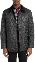 Burberry Men's Gransworth Leather Elbow Patch Quilted Jacket