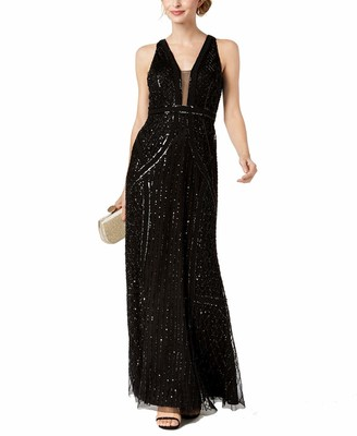 Adrianna Papell Women's Beaded Halter Dress