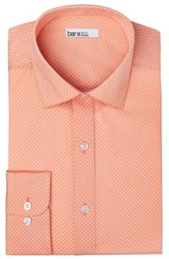 Bar III Men's Organic Cotton Slim-Fit Link-Print Dress Shirt, Gots Certified, Created for Macy's