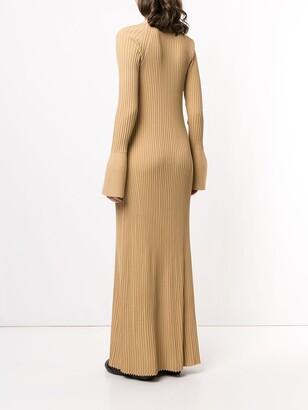 Proenza Schouler Buttoned Rib-Knit Dress