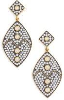 Freida Rothman Women's Contemporary Deco Cubic Zirconia Drop Earrings