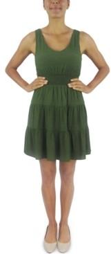 City Studios Juniors' Tiered Tie-Back A-Line Dress