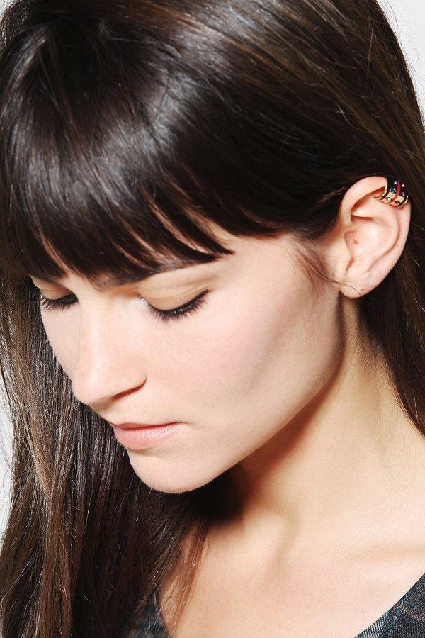 Maria Francesca Pepe MariaFrancescaPepe Enameled Cuff Earring
