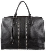 Rochas Grained Leather Tote