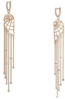 Swarovski Precisely Chandelier Fringe Pierced Earrings (CZ White) Earring