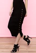 Hera Snap Button Pencil Skirt