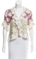 Chloé Floral Print Lace-Trimmed Top