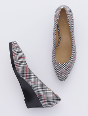 Talbots Lacey Platform Wedges - Plaid