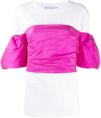 Erika Cavallini Layered Ruffled-Sleeves Top
