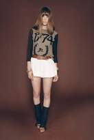 Wildfox Couture 1774 Sequin Campfire Tee in Militant