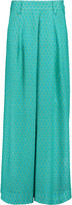 Missoni Pleated crochet-knit wide-leg pants