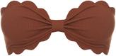Marysia Swim Antibes scallop-edged bandeau bikini top