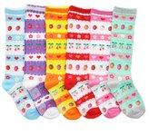 Angelina Girls Cotton Knee High Socks 6 Pack
