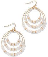 New York & Co. Faux-Pearl Triple-Hoop Earring