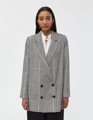Just Female Women's Amalie Plaid Blazer Jacket in Bright Check, Size Extra Small