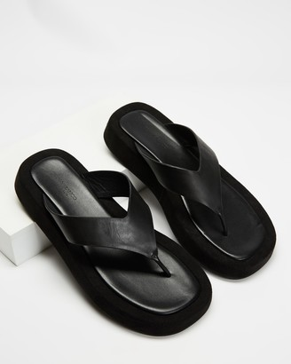 Tony Bianco Women's Black Strappy sandals - Ives - Size 5 at The Iconic