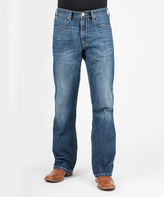 Stetson Blue Stone Wash & Gold Deco Pocket Relaxed Jeans - Men's Regular