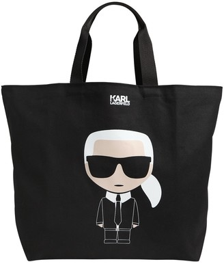 Karl Lagerfeld Paris K/ikonik Tote Bag W/leather