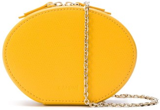 Cafune Egg textured leather clutch