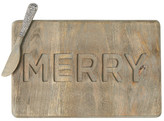 Mud Pie Brown Merry Recessed Board & Spreader Set