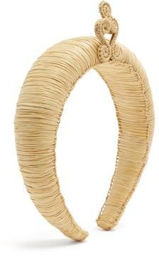 Magnetic Midnight - Arabesque Woven Headband - White