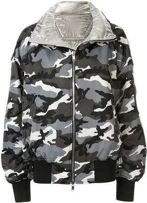 Juun.J reversible hooded bomber jacket