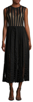 Tracy Reese Flared Midi Frock Dress