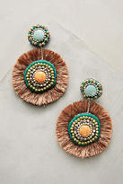 Anthropologie Fringed Circlet Drop Earrings