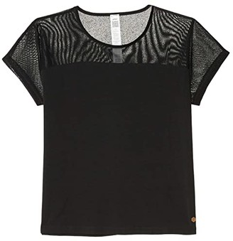 Asics Piped Dream Tee (Performance Black) Women's Clothing