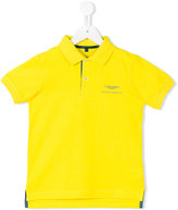 Aston Martin Kids - embroidered logo polo shirt - kids - Cotton - 2 yrs