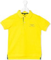 Aston Martin Kids embroidered logo polo shirt