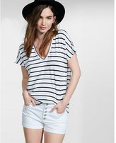 Express one eleven striped short sleeve london tee