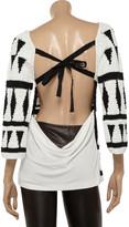 Alberta Ferretti Open-back cotton sweater