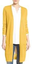 Halogen Petite Women's Long Linen Blend Cardigan