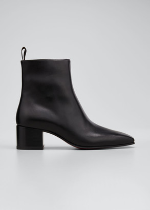 Christian Louboutin Men's Zagober Leather Side-Zip Ankle Boots