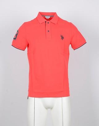 U.S. Polo Assn. Bright Orange Cotton Men's Polo Shirt