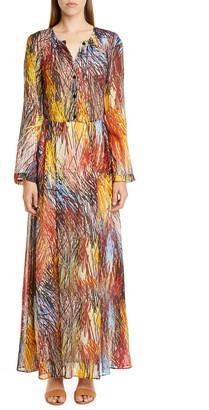 Missoni Print Long Sleeve Maxi Dress