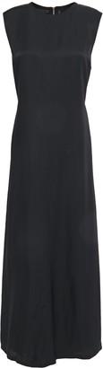 Helmut Lang Cutout Gathered Woven Midi Dress