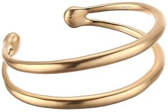 Lucky Brand Modern Double Cuff Bracelet (Gold) Bracelet