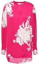 Equipment Delainey Floral-print Washed Silk-blend Blouse