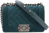 Chanel Boy velvet handbag