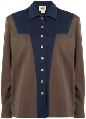 Hermes Pre-Owned patchwork contrasting shirt