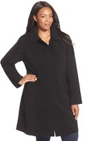Gallery Plus Size Women's Hooded Nepage Raincoat