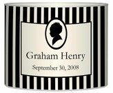 The Well Appointed House Personalized Mod Baby Boy Silhouette Frame Decoupage Letter Box-Available in Two Different Sizes