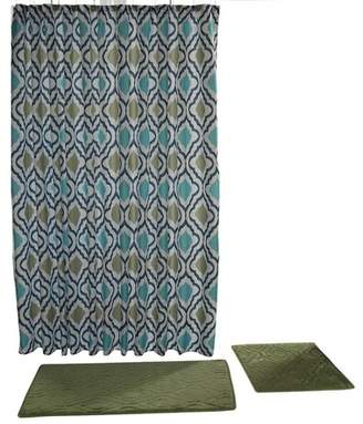 Chesapeake Merchandising Falcon 15pc Bath Set Aqua & Deep Sage - Chesapeake Merch Inc.