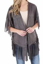 Wrangler Faux Leather Kimono