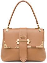 Prada Medium Half-Flap Tote Bag, Medium Camel