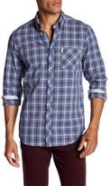 Ben Sherman Front Button Plaid Print Slim Fit Woven Shirt