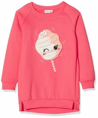 Name It Girl's Nmfrija Ls Light Sweat Tunic Box Bru Sweatshirt